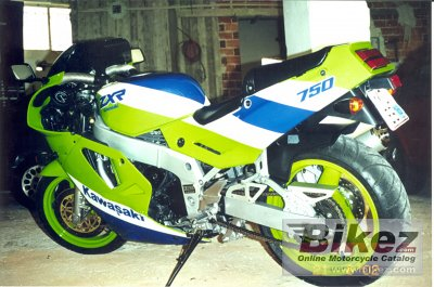 1989 Kawasaki ZXR 750 (reduced effect)