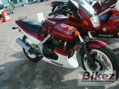 1990 Kawasaki GPZ 500 S (reduced effect)