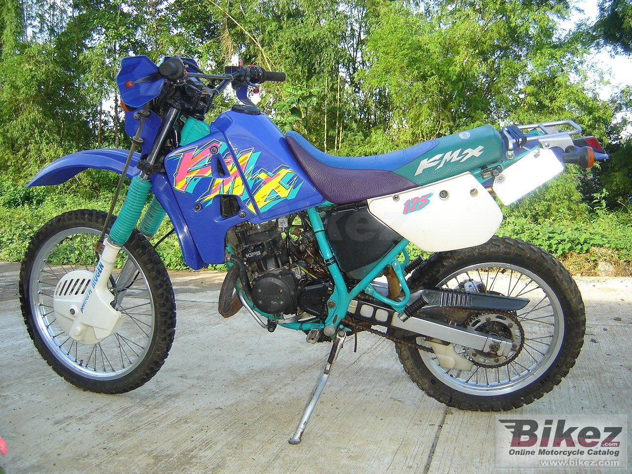 Big  kmx 125 picture and wallpaper from Bikez.com