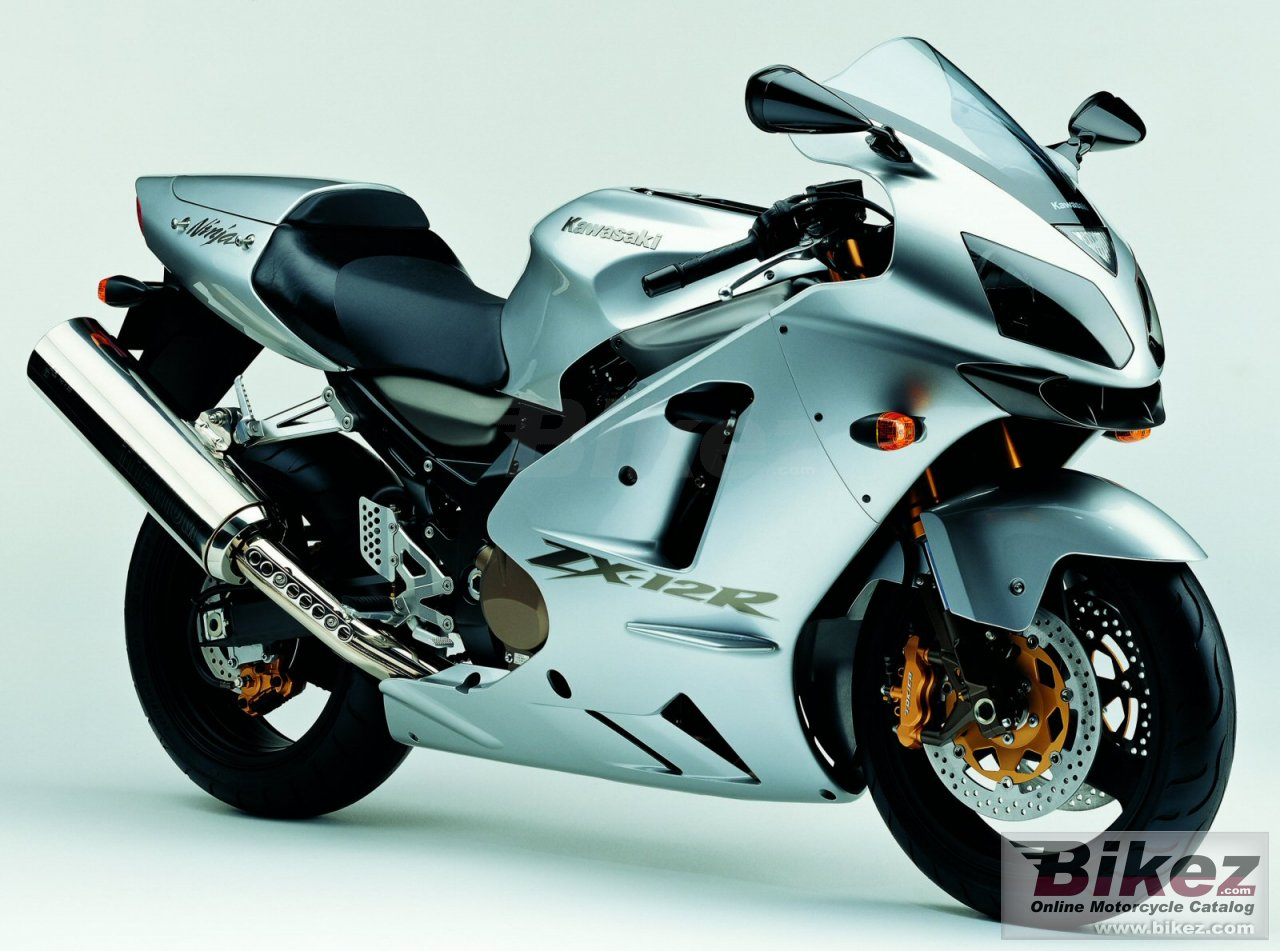 Big Kawasaki ninja zx-12r picture and wallpaper from Bikez.com