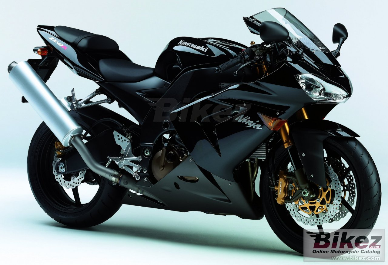 Big Kawasaki ninja zx-10 r picture and wallpaper from Bikez.com