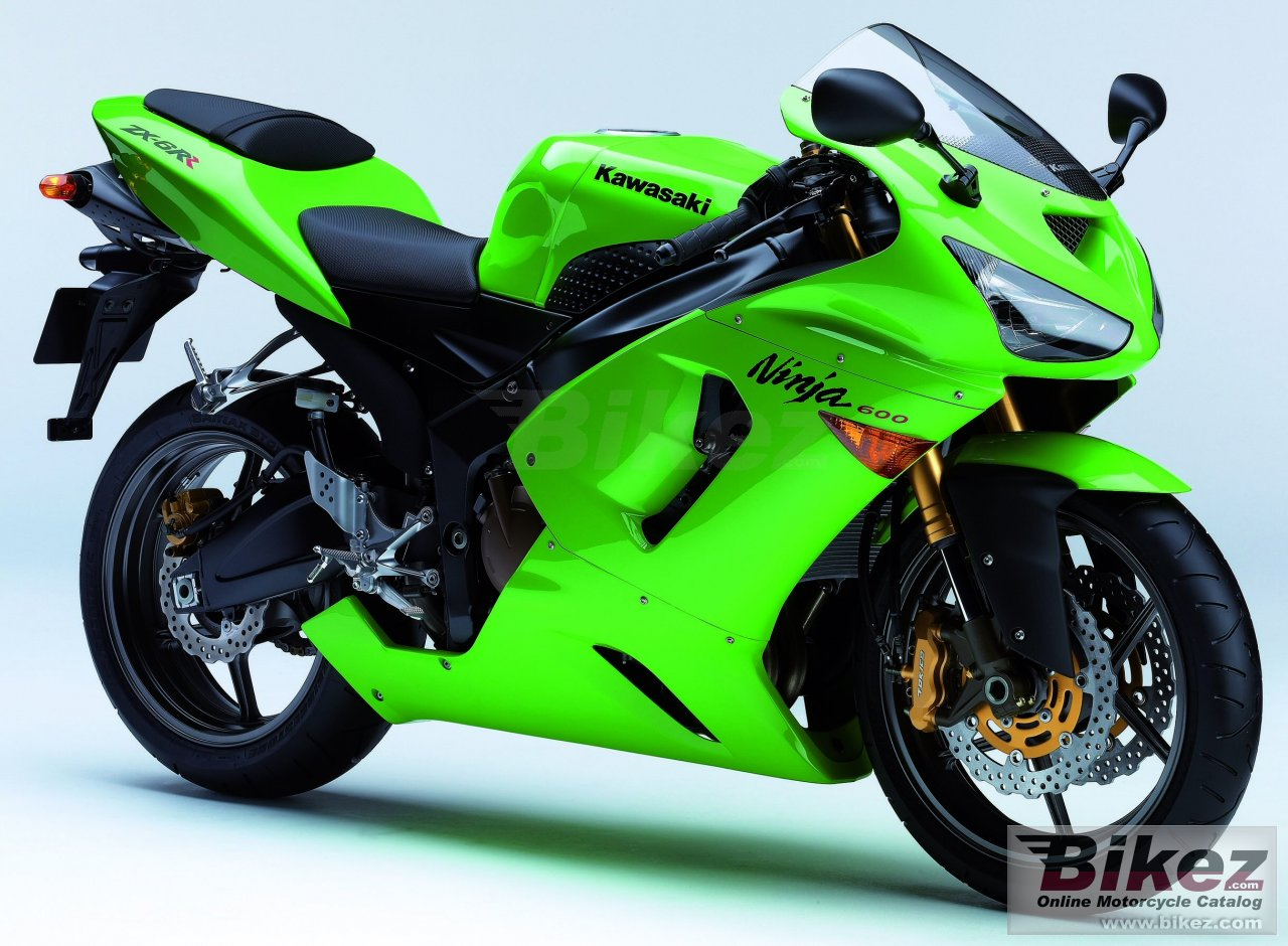 Big Kawasaki ninja zx-6 rr picture and wallpaper from Bikez.com