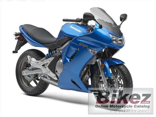 Big Kawasaki ninja 650r picture and wallpaper from Bikez.com