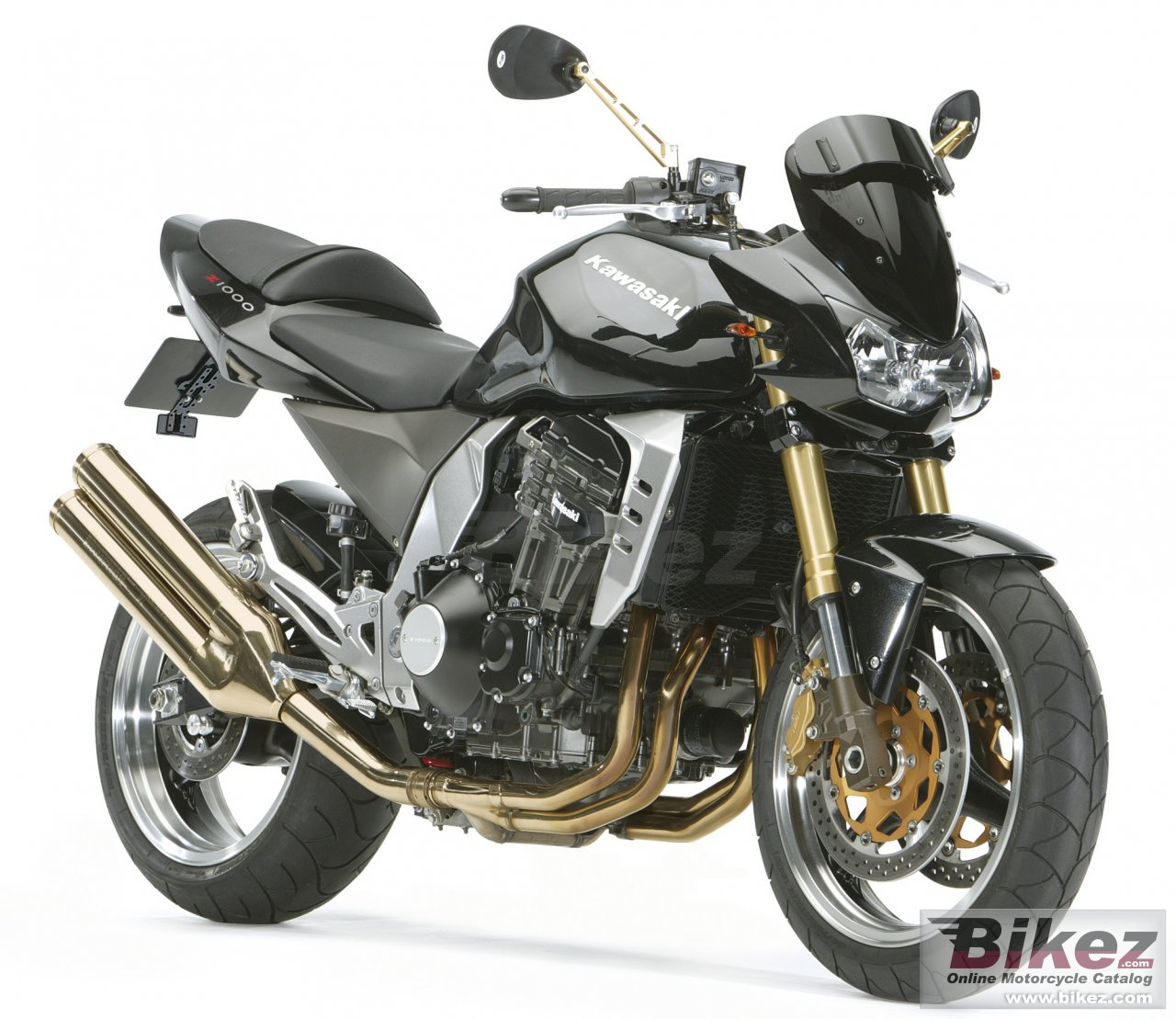 Big Kawasaki z1000 picture and wallpaper from Bikez.com