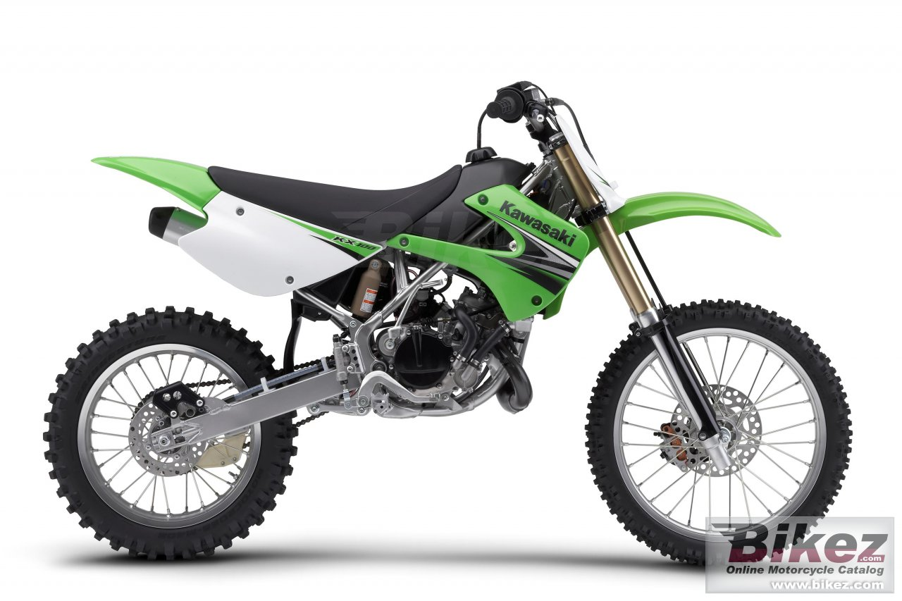 Big Kawasaki kx100 picture and wallpaper from Bikez.com