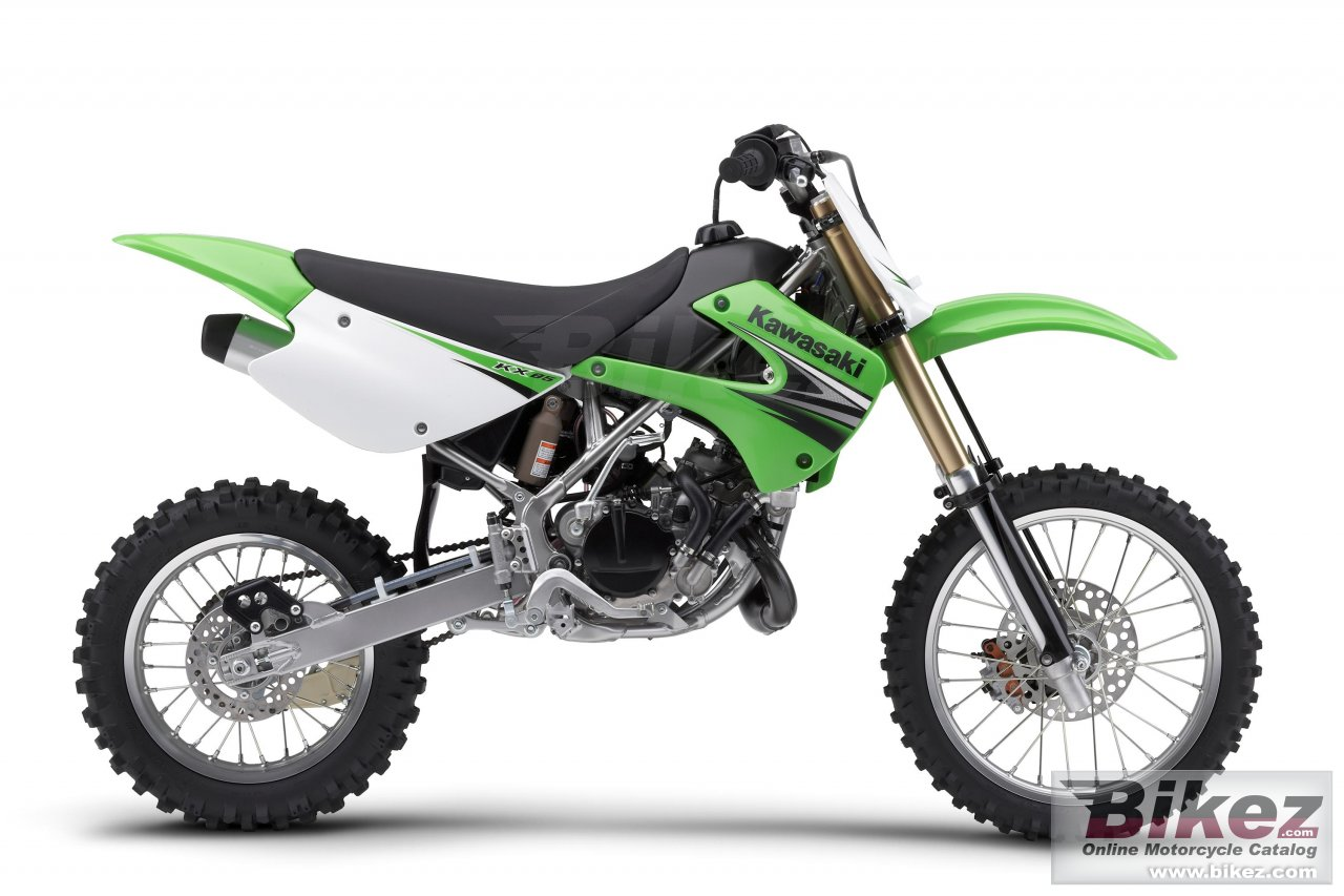 Big Kawasaki kx85 picture and wallpaper from Bikez.com