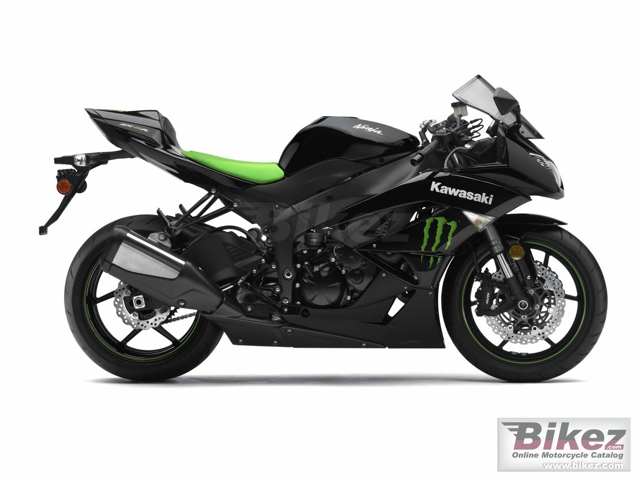 Big Kawasaki ninja zx-6r monster energy picture and wallpaper from Bikez.com