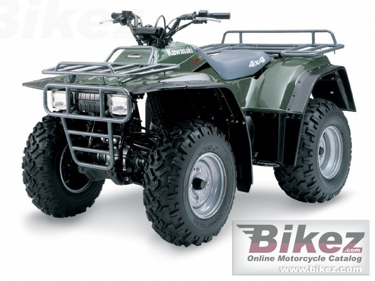 Big Kawasaki klf300 4x4 picture and wallpaper from Bikez.com