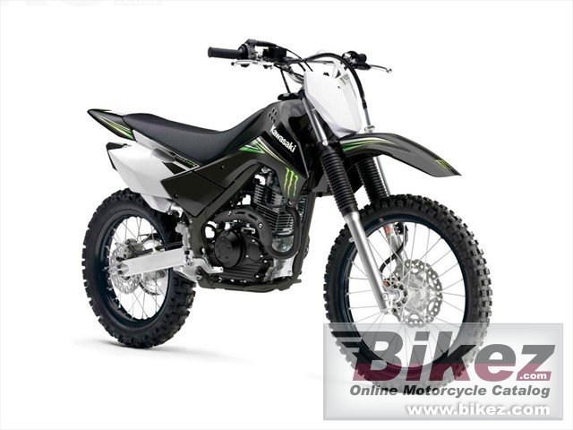 Big Kawasaki klx 140l monster energy picture and wallpaper from Bikez.com
