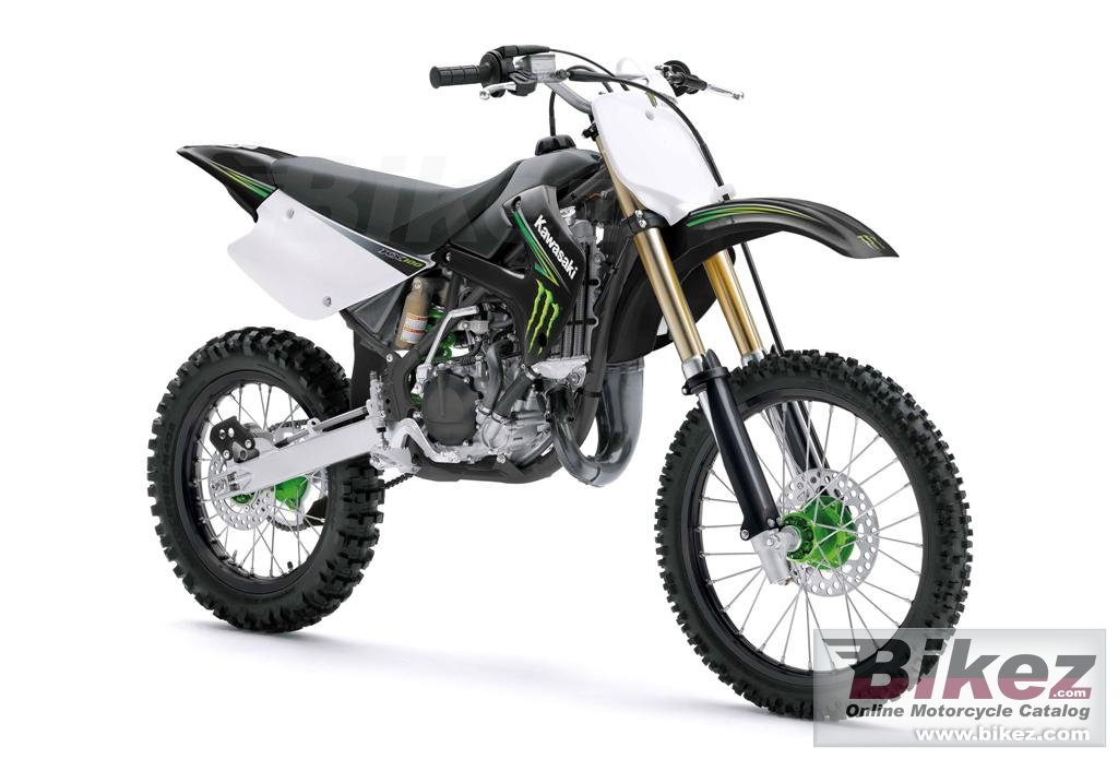 Big Kawasaki kx 100 monster energy picture and wallpaper from Bikez.com