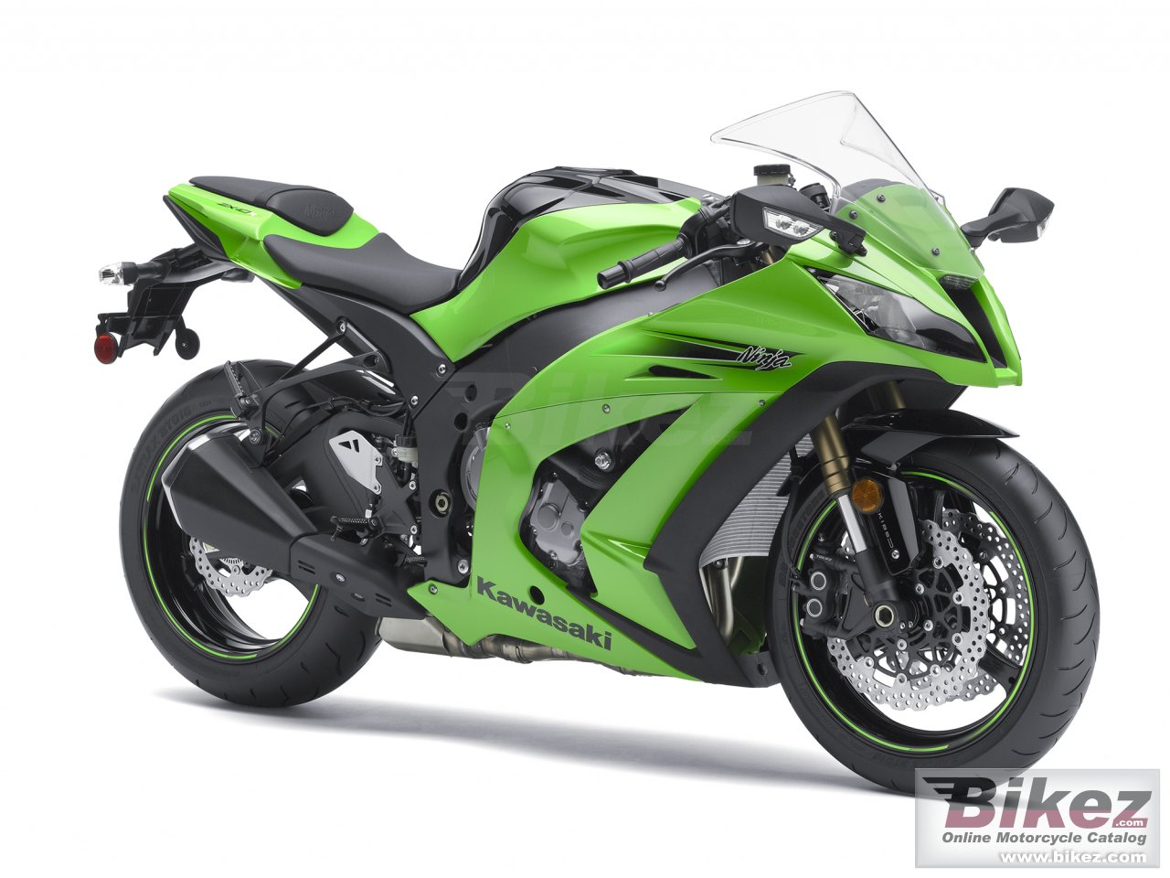 Big Kawasaki ninja zx -10r abs picture and wallpaper from Bikez.com