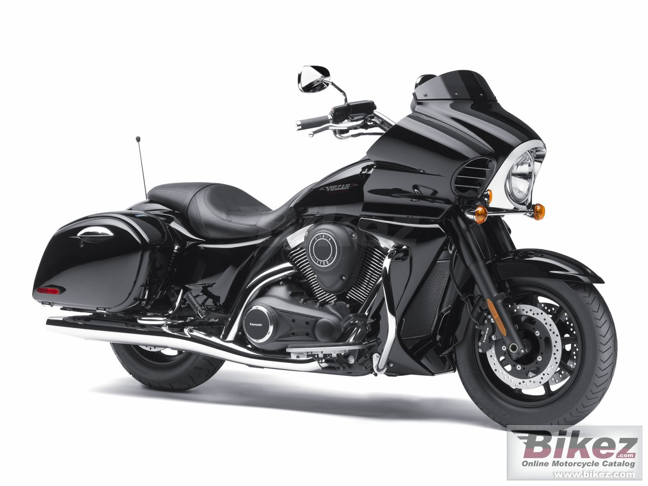 Big Kawasaki vulcan 1700 vaquero picture and wallpaper from Bikez.com