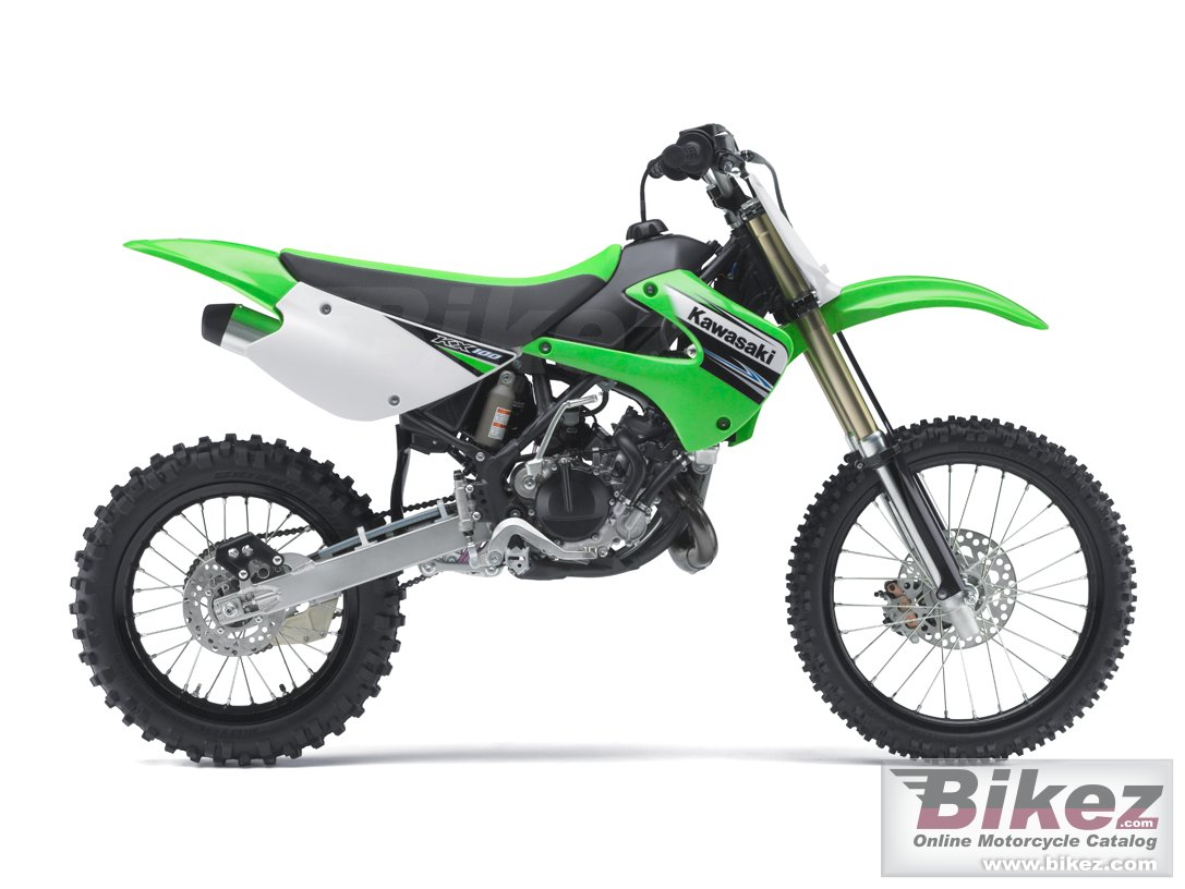 Big Kawasaki kx 100 picture and wallpaper from Bikez.com