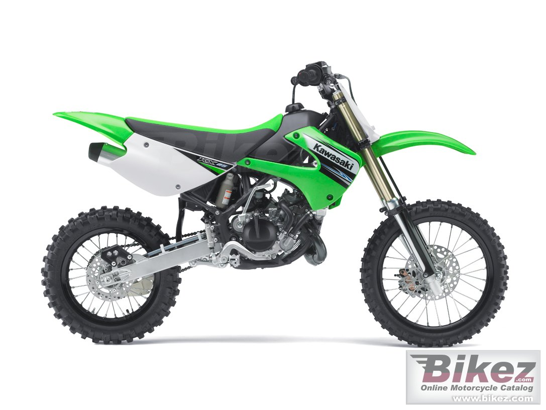 Big Kawasaki kx 85 motocross picture and wallpaper from Bikez.com