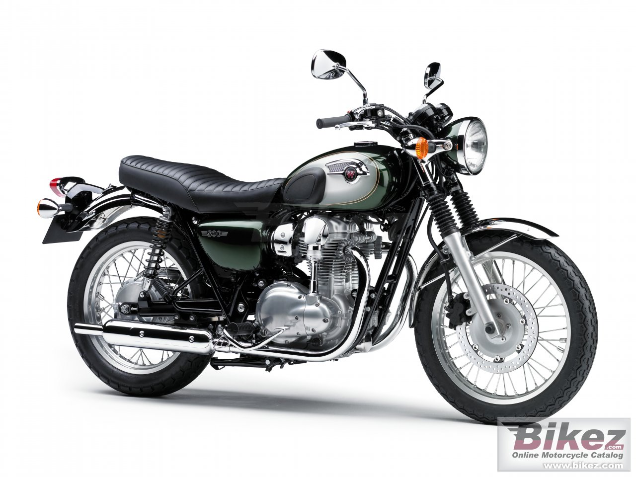 Big Kawasaki w800 picture and wallpaper from Bikez.com