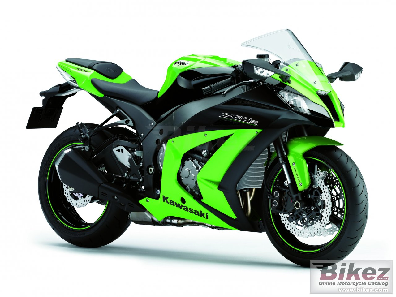 Big Kawasaki ninja zx-10r picture and wallpaper from Bikez.com