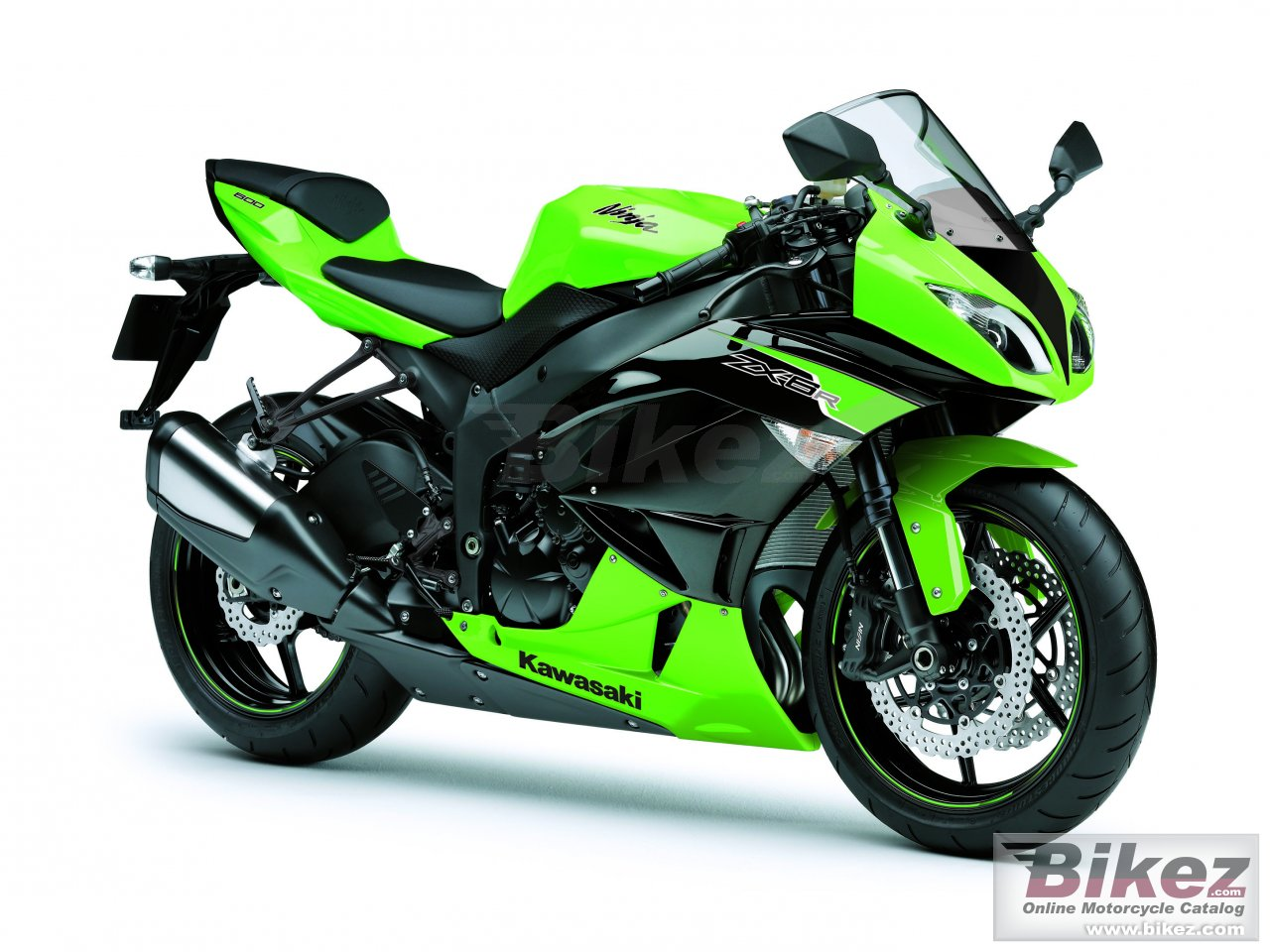 Big Kawasaki ninja zx-6r picture and wallpaper from Bikez.com