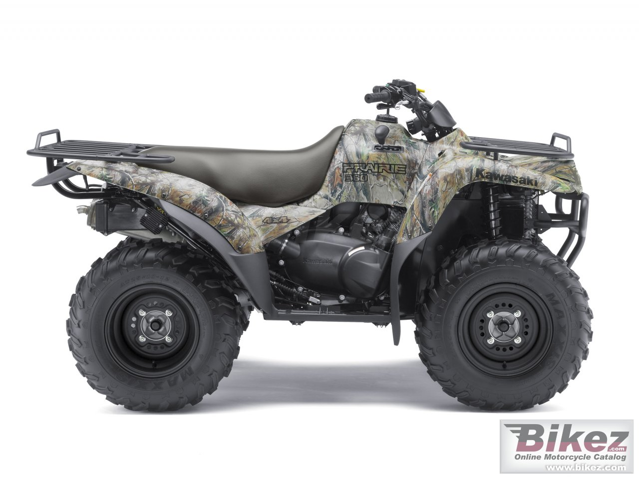 Big Kawasaki prairie 360 4x4 realtree apg hd picture and wallpaper from Bikez.com