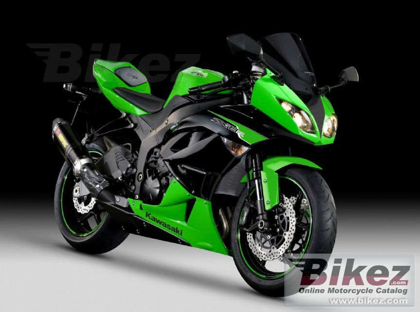 Big Kawasaki ninja zx-6r performance picture and wallpaper from Bikez.com