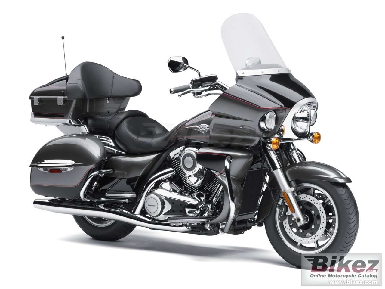 Big Kawasaki vulcan vn1700 voyager picture and wallpaper from Bikez.com