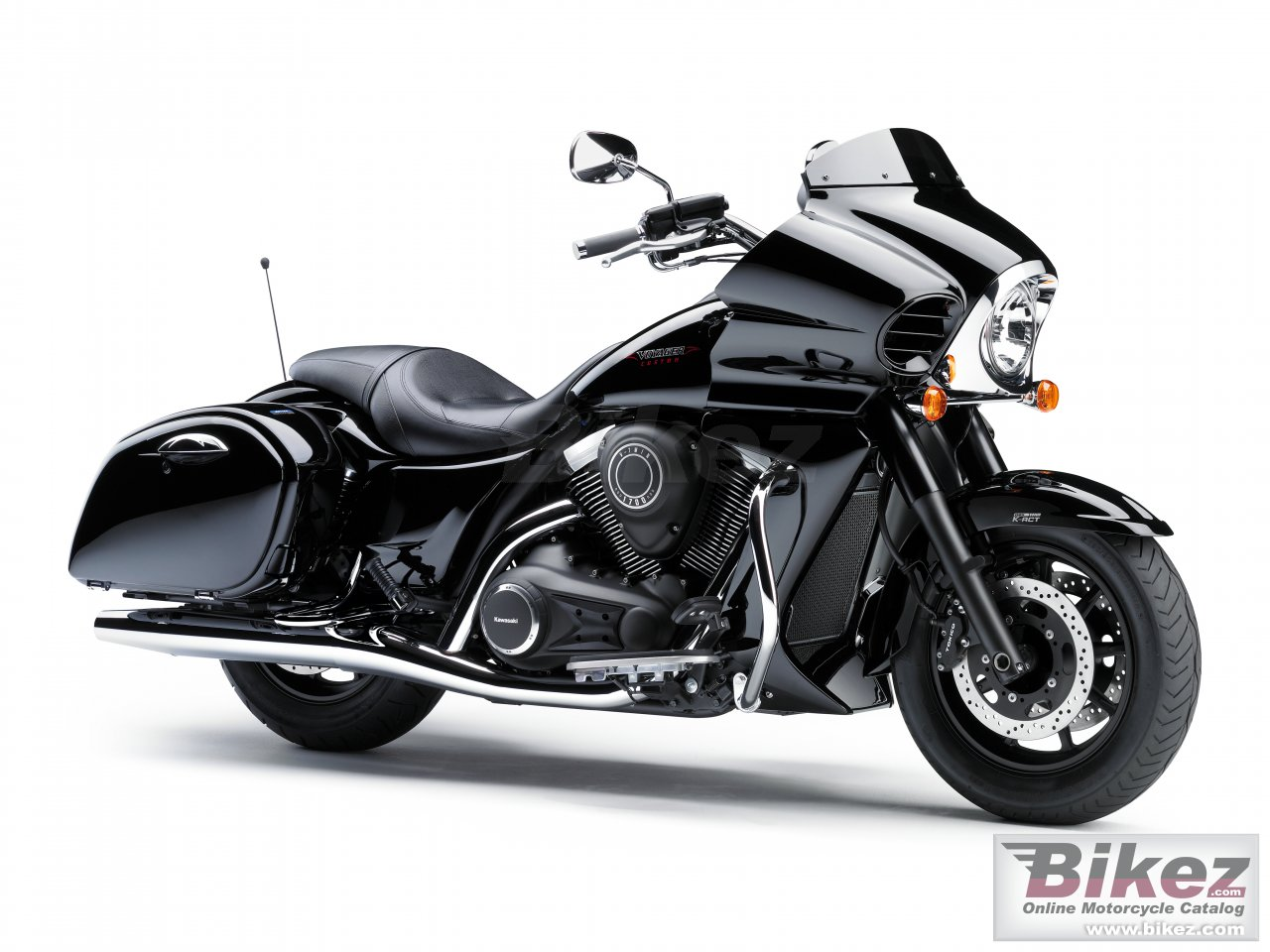 Big Kawasaki vulcan vn1700 voyager custom picture and wallpaper from Bikez.com