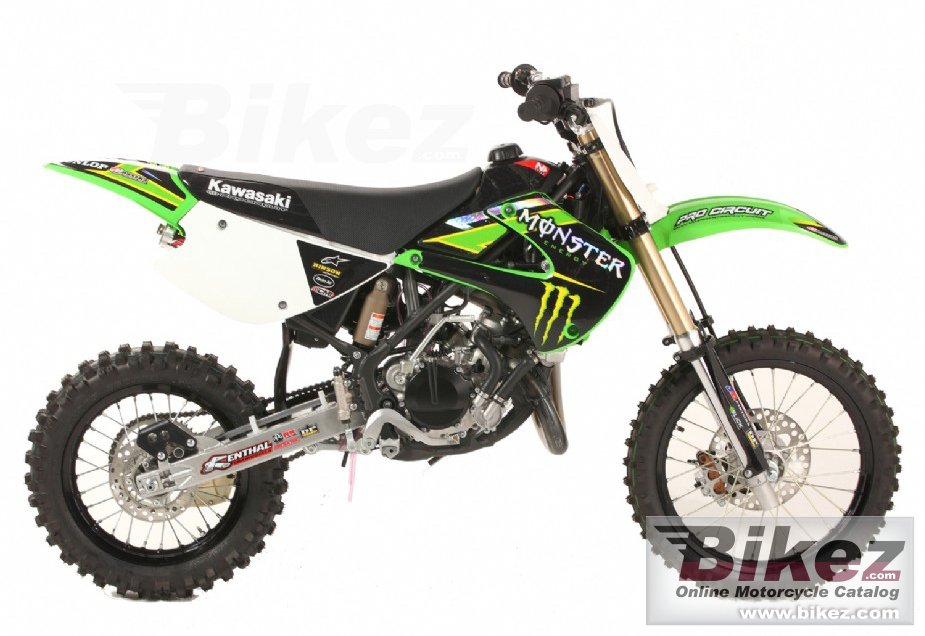 Big Kawasaki kx85-ii monster energy picture and wallpaper from Bikez.com