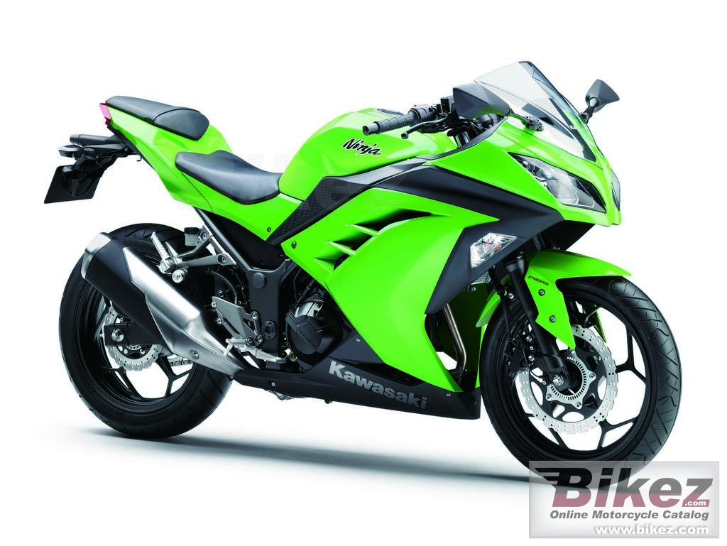Big Kawasaki ninja 300 picture and wallpaper from Bikez.com