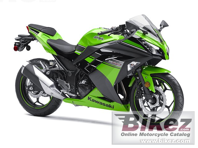Big Kawasaki ninja 300 abs picture and wallpaper from Bikez.com
