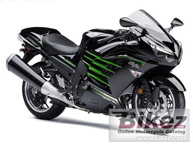 Big Kawasaki ninja zx -14r picture and wallpaper from Bikez.com