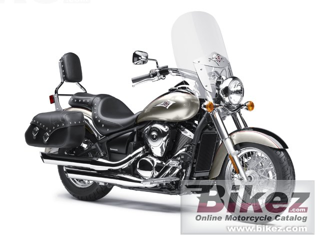Big Kawasaki vulcan 900 classic lt picture and wallpaper from Bikez.com