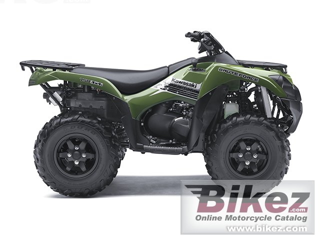 Big Kawasaki brute force 750 4x4i picture and wallpaper from Bikez.com