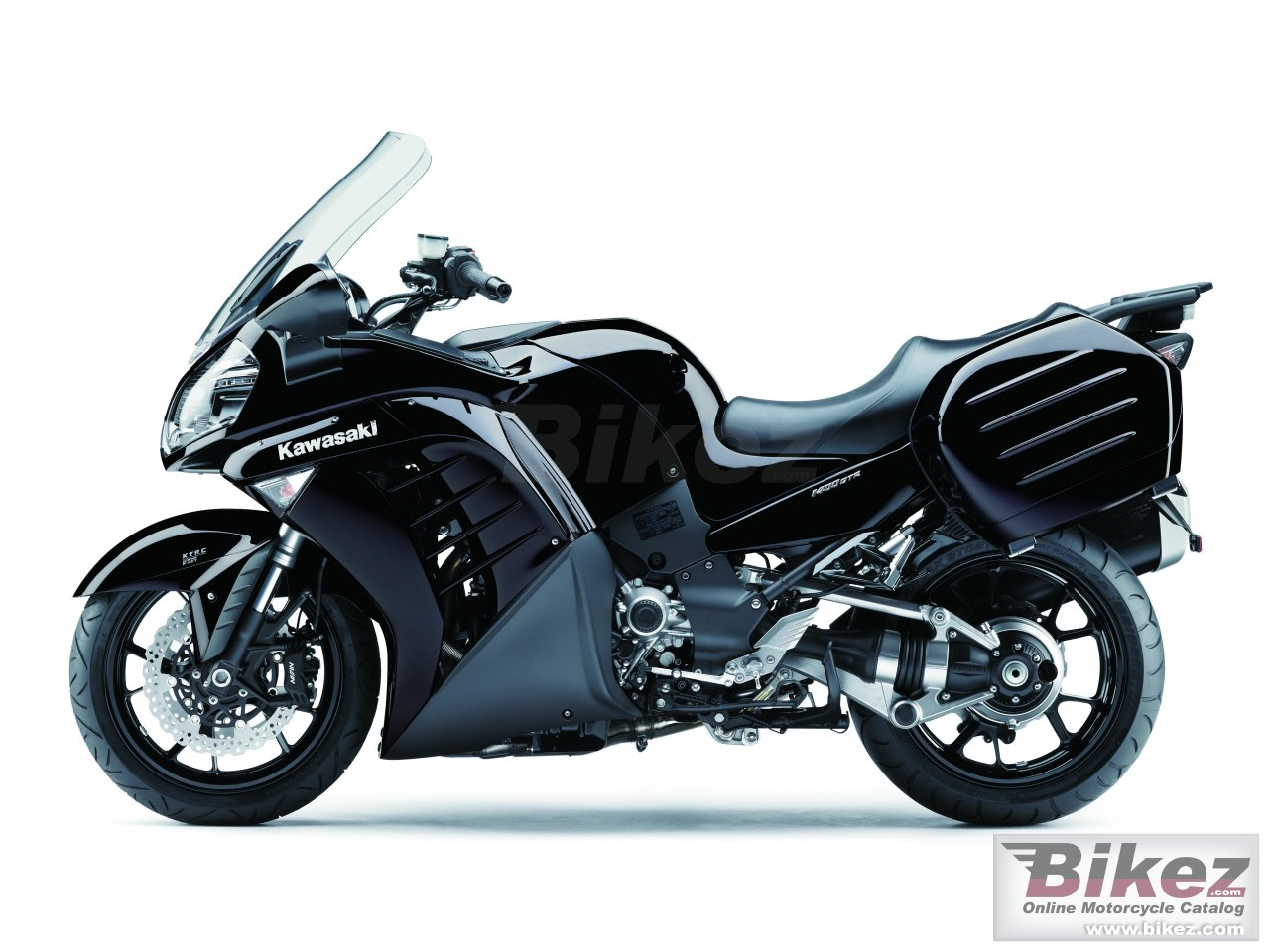 Big Kawasaki 1400 gtr picture and wallpaper from Bikez.com