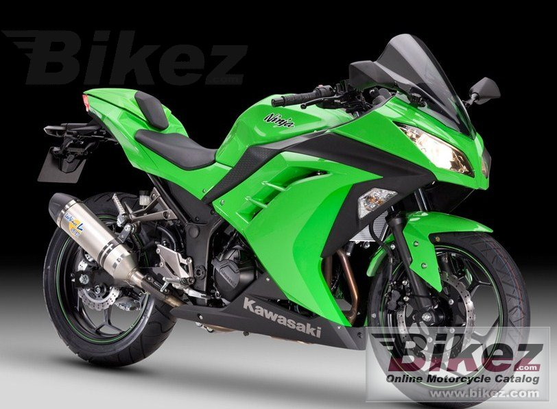 Big Kawasaki ninja 300 performance picture and wallpaper from Bikez.com