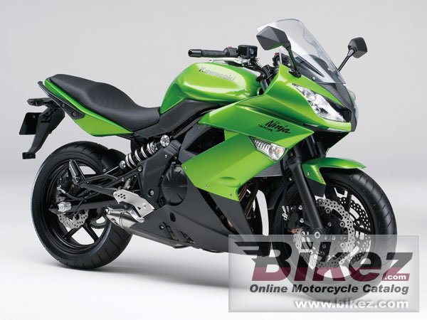 Big Kawasaki ninja 400r abs picture and wallpaper from Bikez.com