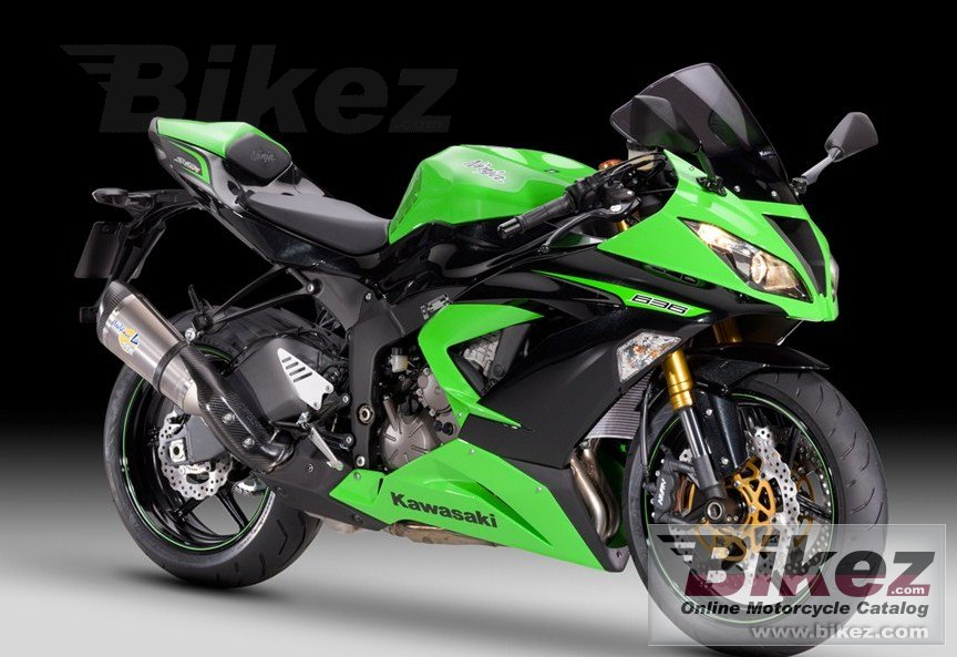Big Kawasaki ninja zx-6r 636 performance picture and wallpaper from Bikez.com