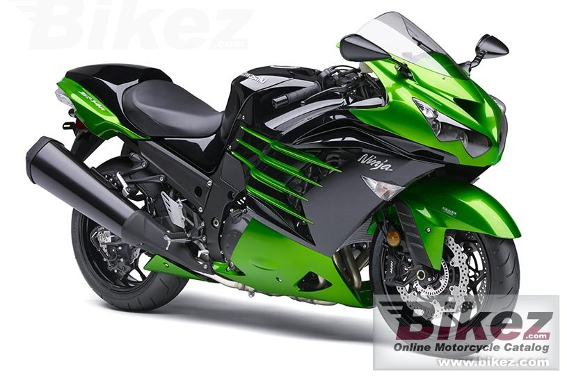 Big Kawasaki ninja zx-14r abs picture and wallpaper from Bikez.com