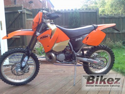 2001 ktm exc 200 specifications and pictures