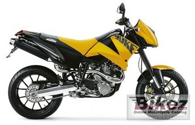 2004 KTM 640 Duke II Yellow-Black