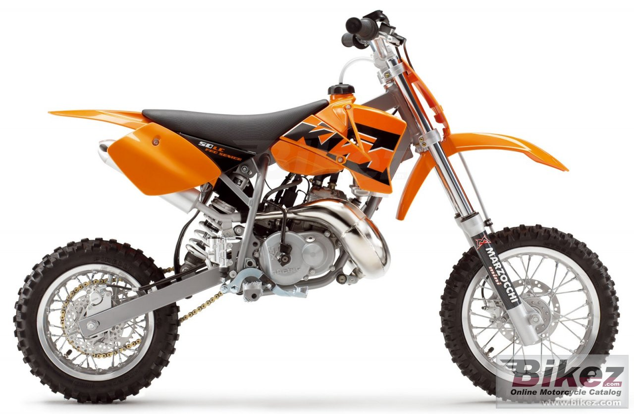 Big KTM 50 sx pro senior lc picture and wallpaper from Bikez.com
