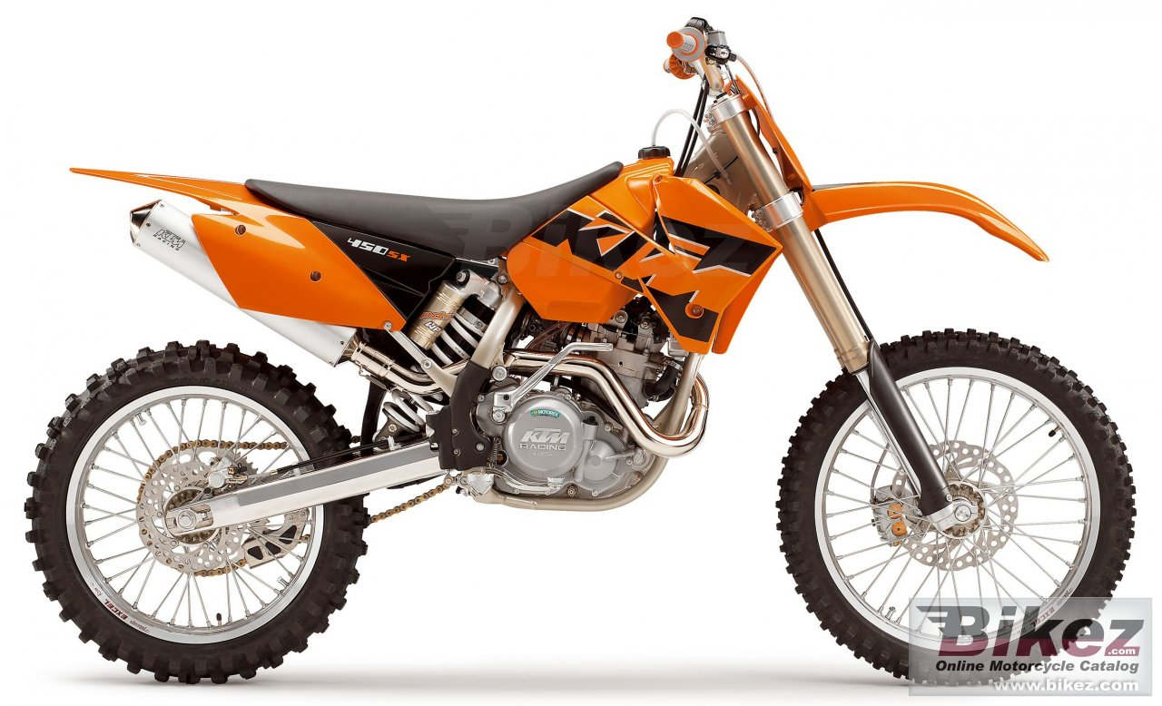 Big KTM 450 sx racing picture and wallpaper from Bikez.com