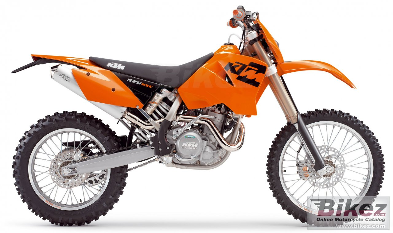 Big KTM 525 mxc desert racing picture and wallpaper from Bikez.com