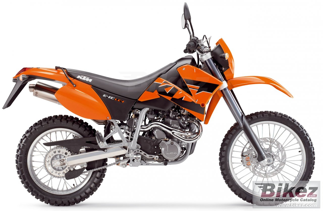 Big KTM 640 lc4 enduro picture and wallpaper from Bikez.com