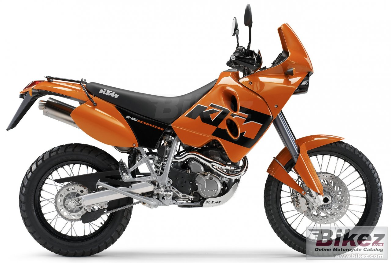 Big KTM 640 lc4 adventure picture and wallpaper from Bikez.com