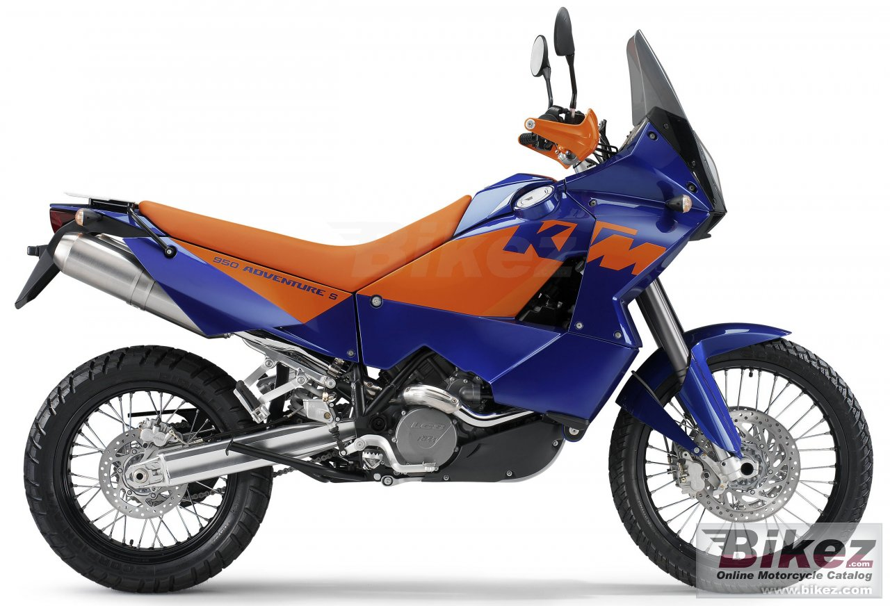 Big KTM 950 adventure s picture and wallpaper from Bikez.com