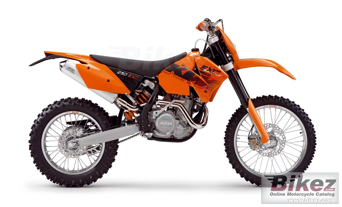 Big KTM 250 exc racing picture and wallpaper from Bikez.com