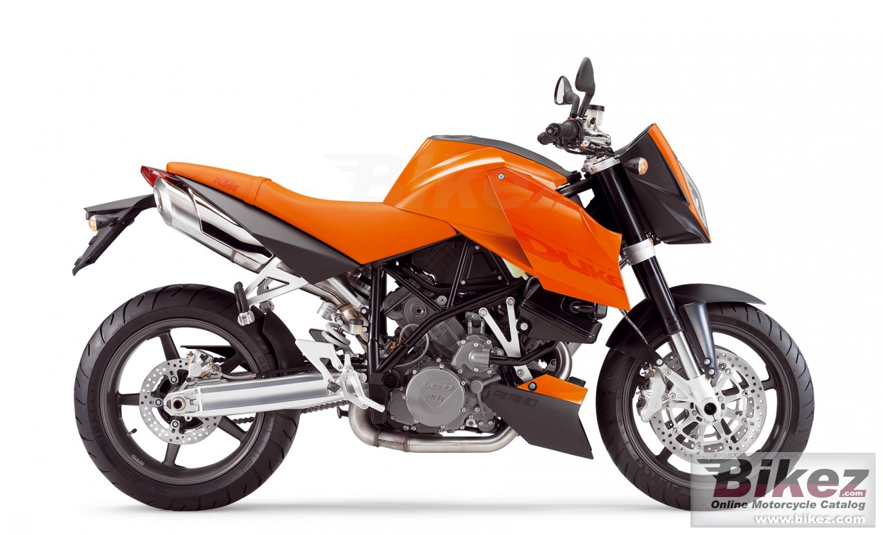 Big KTM 990 superduke orange picture and wallpaper from Bikez.com