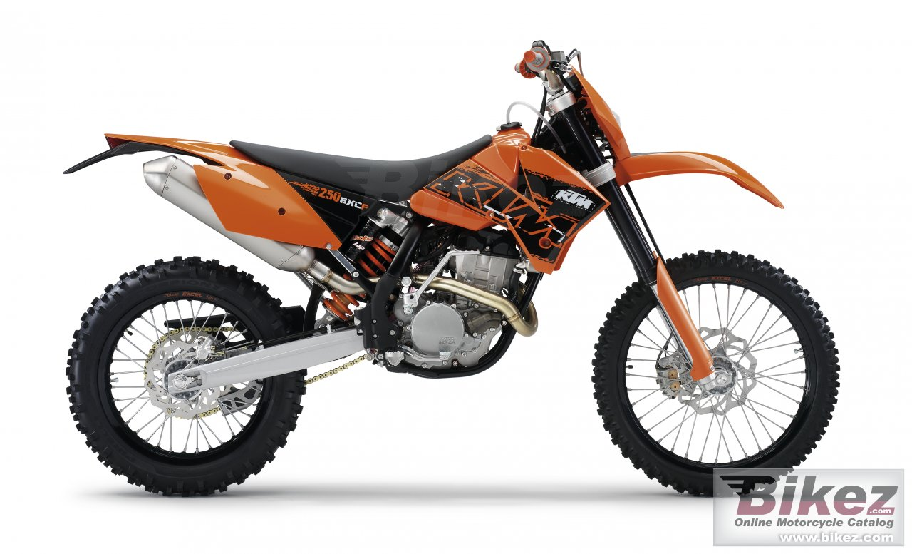 Big KTM 250 exc-f picture and wallpaper from Bikez.com