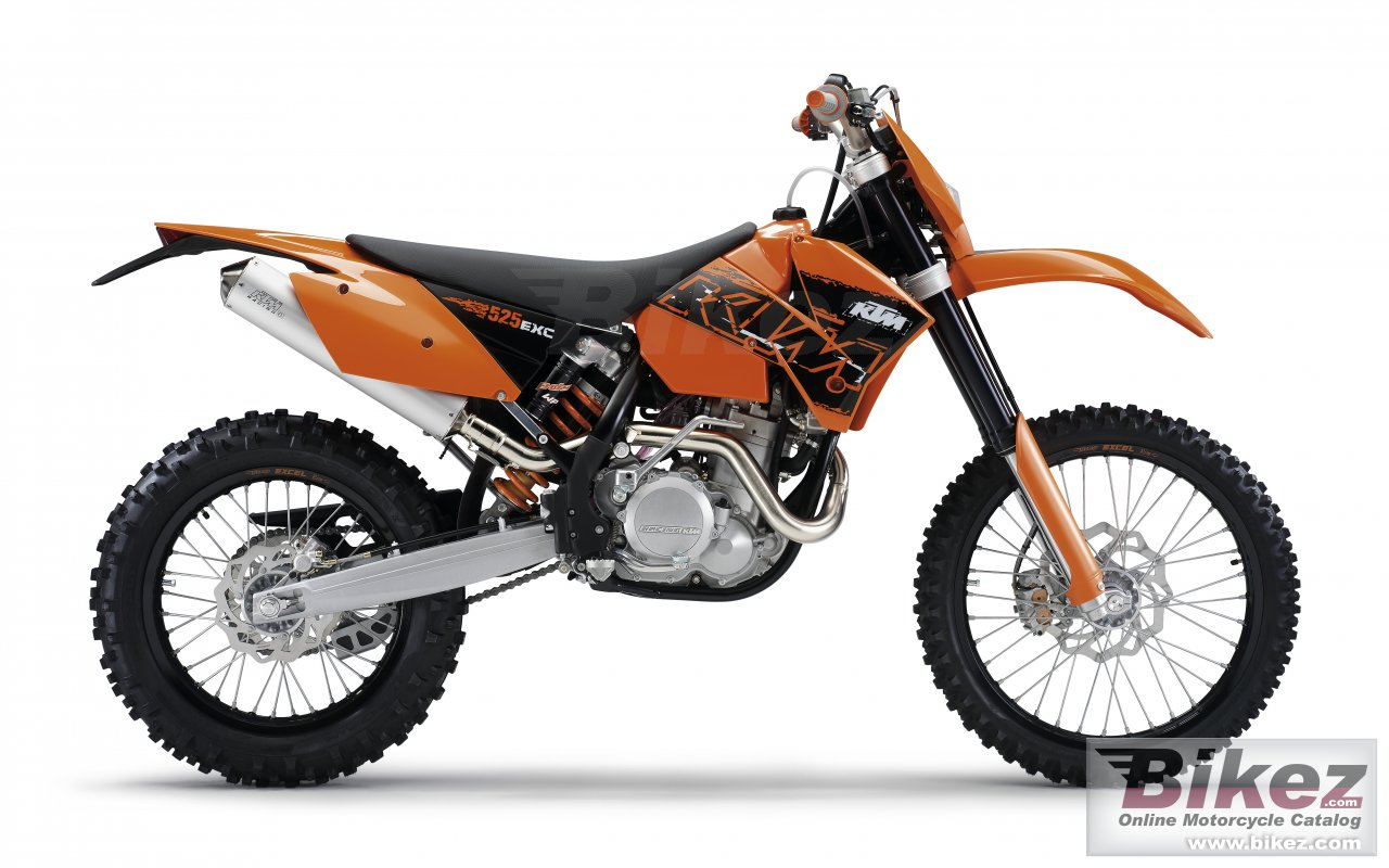Big KTM 525 exc racing picture and wallpaper from Bikez.com