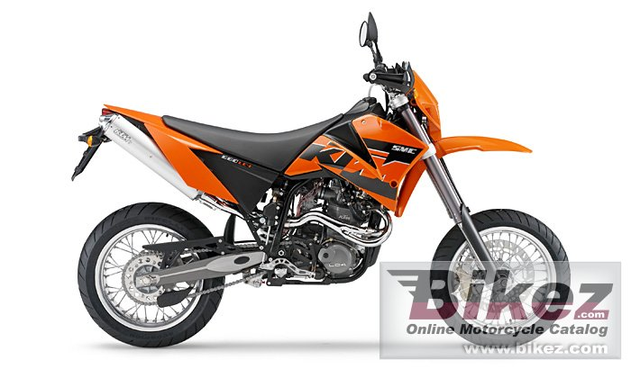 Big KTM 660 smc picture and wallpaper from Bikez.com