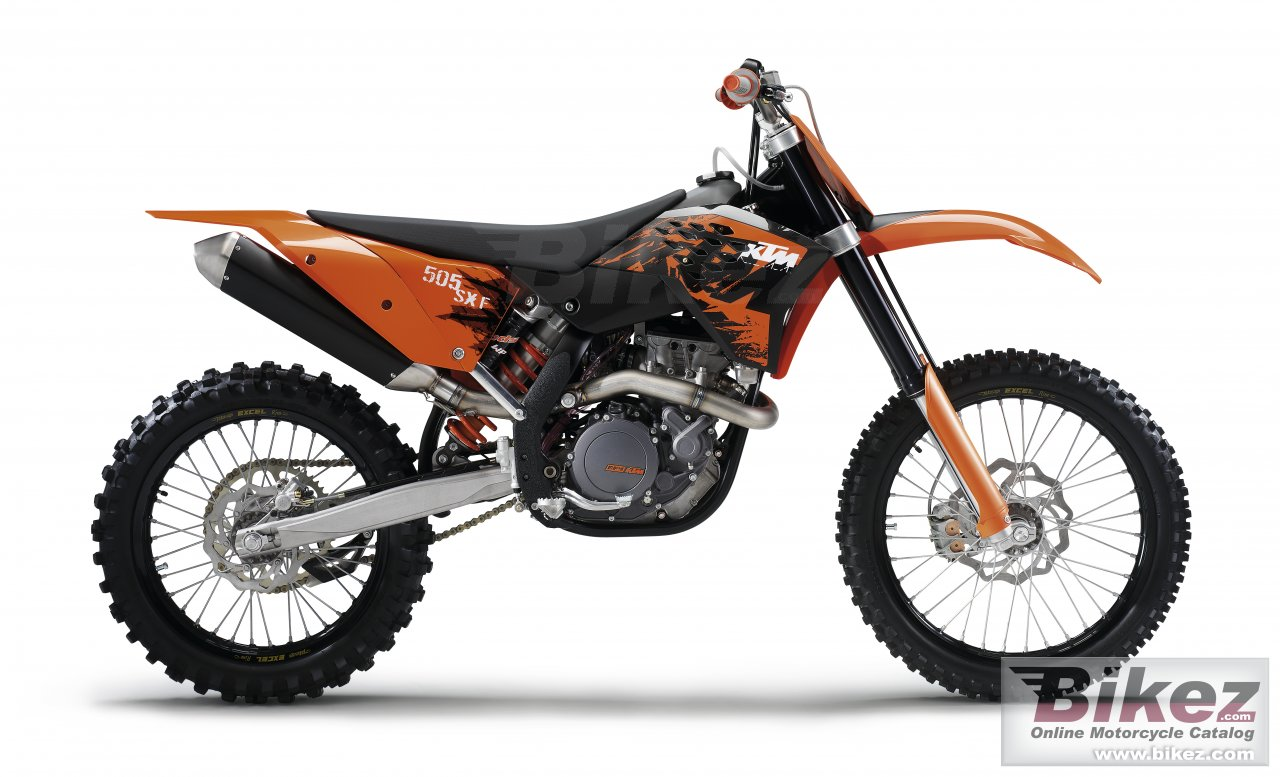 Big KTM 505 sx f picture and wallpaper from Bikez.com